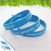 Fashion Unisex Silicone Wristbands Rubber Bracelet / embossed color filled silicone hand band