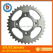 420-36t spare parts motor bicycle sprocket cd70 sprocket