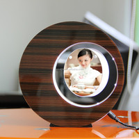 LED suspending in the air magnetic levitation photo frame delicate creative gift ideas