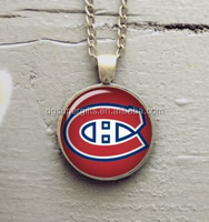 Metal printed Montreal canadiens keyring necklace, hockey NHL team custom souvenirs