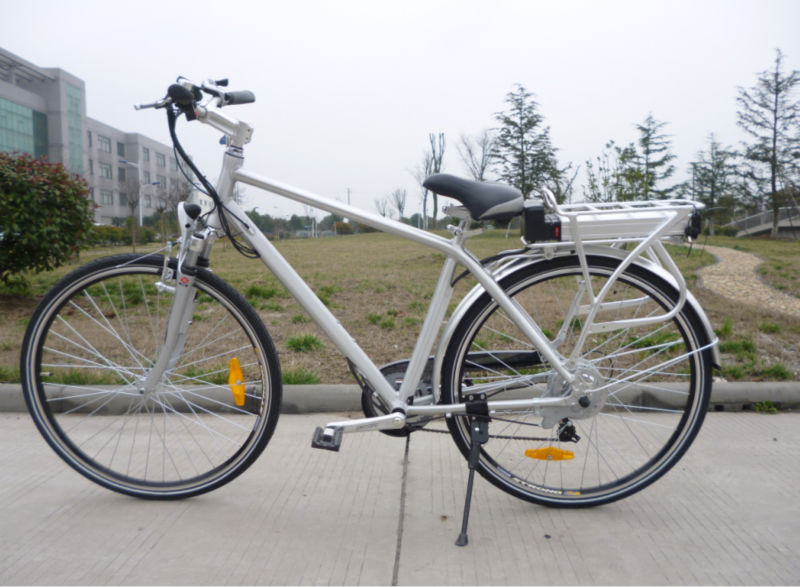 en15194 700 cc rear rack battery electric bike 250W