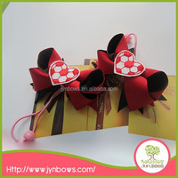 Hot selling red ribbon bowknot decoration fancy elastic hair bands