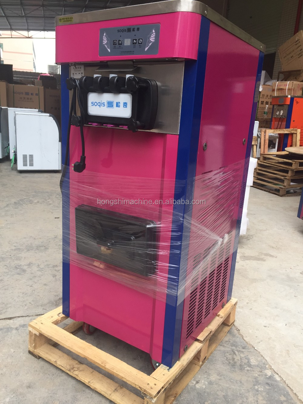 Three colors best price soft ice cream machine price / ice cream maker machine