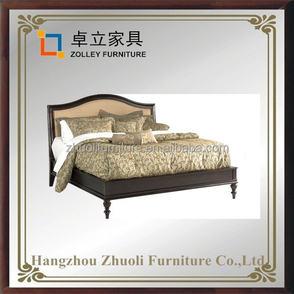 Home collection furniture solid wood queen and king size double bed design