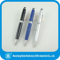 3 colors metal ballpoint pen with stylus touch