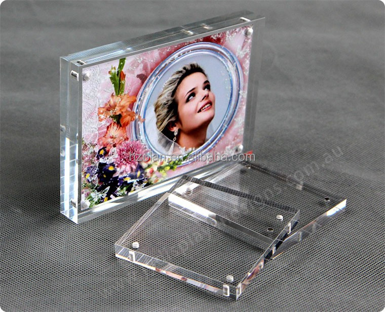 acrylic photo frame magnetic/sexy acrylic photo frame