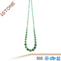 Istone Hot Selling Natural Green Aventurine Necklace Charming Stones For Women