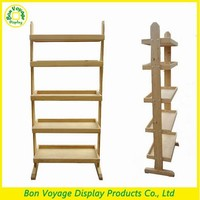 5 tiers simple design wood cookies and cake display stands