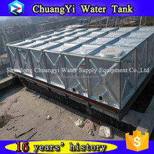 Hot selling combined HDG storage tank/galvanized steel water storage tank for water treatment