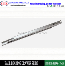 zinc plated 17mm mini ball bearing drawer slide