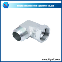 Ningji With SGS Certification factory supply 45 carbon steel jic 37 deg flare fittings adapters