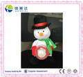 Plush Electric Christmas Snowman soft toy with crystal ball