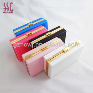 2018 new products,wholesale fashion colorful acrylic clutch evening bag, lady handbag,china