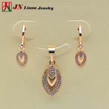 JN8023 Woman Jewellery Sets Copper Material Type AAA CZ Jewelry Sets