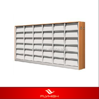 metal double side book shelf used library/commercial shelving
