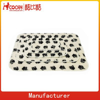 100*70cm Pet Dog Cat Puppy Kitten Soft Blanket Doggy Warm Bed Mat Paw Print Cushion Pet Blanket