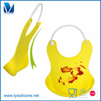 LYA Hot sale Updated New Baby Silicone Bib Stereo Disposable Bib Kids Bibs Children Pick Rice Pocket Cute Boy