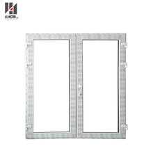 UPVC frame double swing french doors/ interior double french door