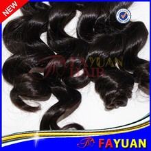 Easy to be dyed and bleached natural color Brazilian virgin hair bundles new style loose wave