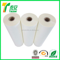 Double Corona Treatment Hot Laminating Film / Roll Micron BOPP Hot Sensitive Laminating Membrane