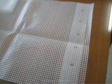 reinforced clear PVC TRANSPARNT MESH FABRIC FOR GREENHOUSE AND BAGS