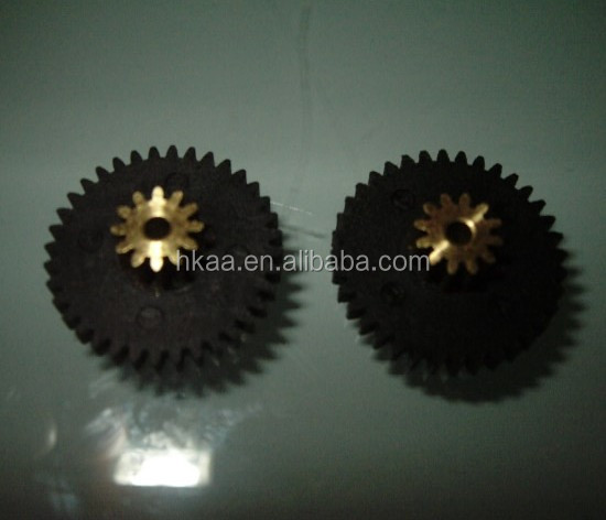 custom plastic double spur gear for toy car
