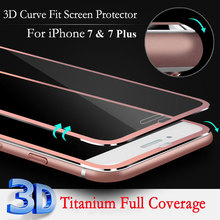 Metal Bumper Tempered Glass for iPhone 7 Screen Protector; 3D Full Cover for iPhone 7 Screen Protector