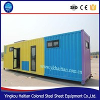 Modular prefabricated steel frame house kit price,low cost modern design expandable container house