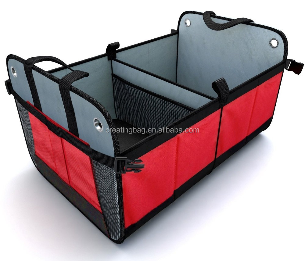 Car Trunk Organizer Auto Storage Box Foldable Storage Bins Collapsible Tidying Box Auto Sturdy Organizer For Stiff Base Plates