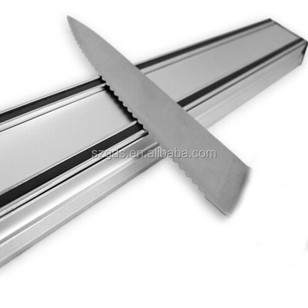 Manufacture 14''/16''/18'' Best Aluminum Magnetic Knife Holder-Extra Strong Kitchen magnetic Knife Rack Holder Utensil Tool Bar