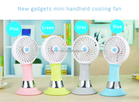 Strong Wind USB Power Bank mini fan with led light function for sale