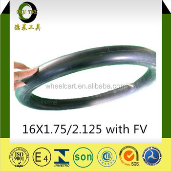 16X1.75/2.125 good Quality Best Sale cheaper price South American bicycle butyl tube