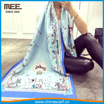 winter women print cashmere feeling length scarf thermal shawls print pashmina scarf