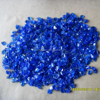 Decorative cobalt blue crushed glass for swimming pool