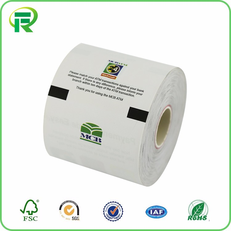 printed POS Paper Rolls Cashier Paper Roll Thermal Till Rolls