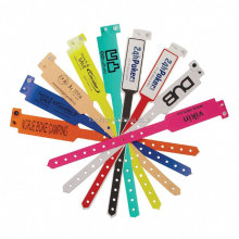 Non reusable hospital ID vinyl wristbands bracelets