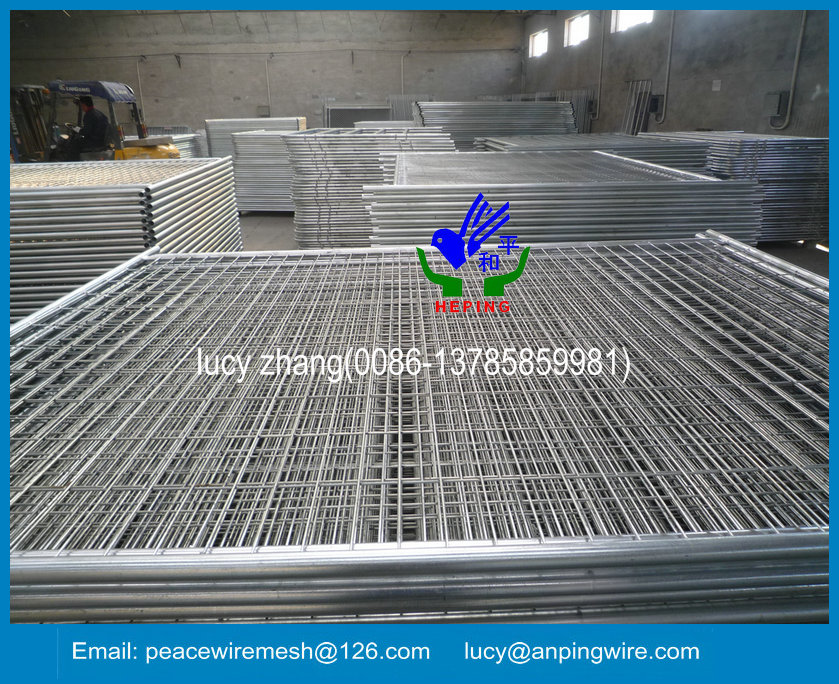 galvanized or pvc coated temporary fence with high quality for export