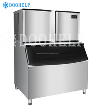 Commercial smart cube ice making machines,ice refrigerator with ice maker bin storage