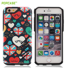 phone accossories 2in1 shockproof back cover case for iphone 6