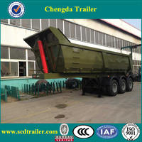 China cheap hydraulic dump semi trailers side tipper trailer for sale