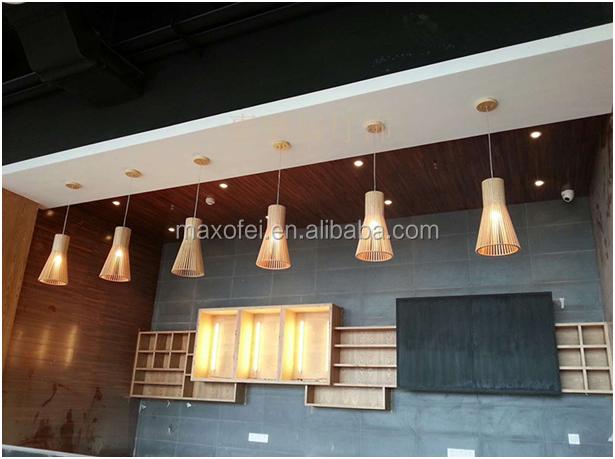 현대 럭셔리 스타일 LED 인테리어 나무 매달려 램프 온라인 거실 ...