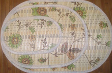 oval bamboo placemats