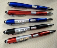 Hot Sale Popular New Design stylus metal pen with light logo promotion stylus pen with highlighter