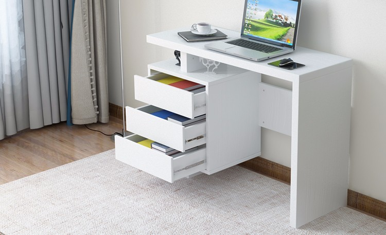 HOT SALE WHITE HIGH GLOSS COMPUTER TABLE FOR OFFICE WITH MDF BOARD