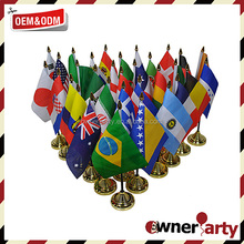 Wholesale Custom Made Countries Table Flags Brightly Colored Flag