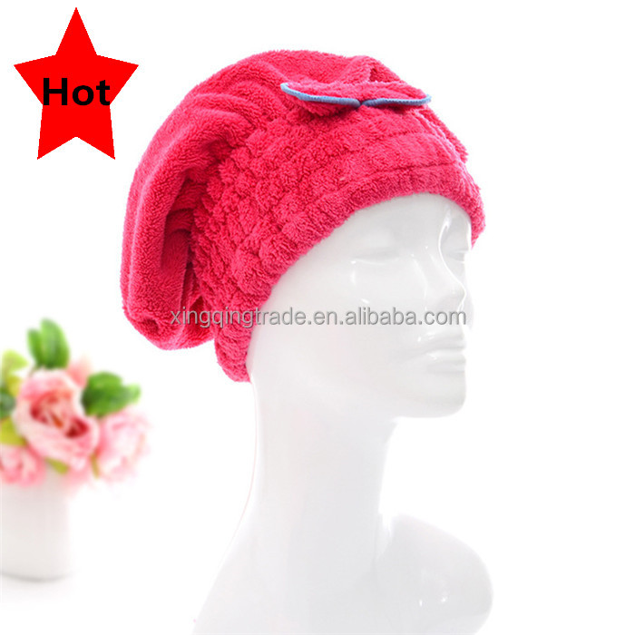 Textile Useful Dry Microfiber Turban Quick Hair Hats Towels Bathing Women towel Shower Cap