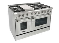 48 inch gas cooker hob with double oven and griddle with oven/griddle top/6 burner