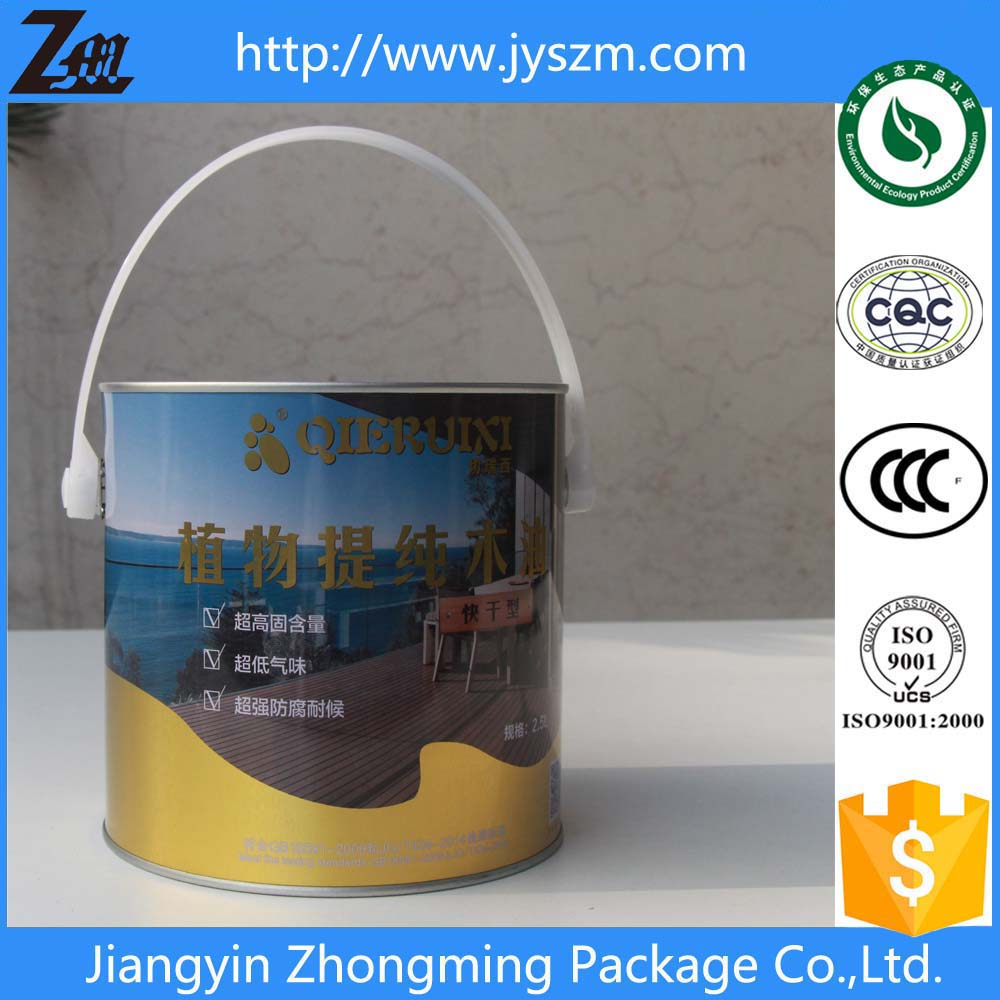 5l tin drums\pails\barrels for paint with lid&handle