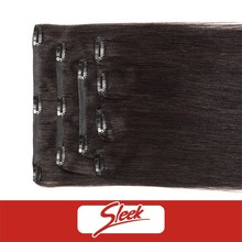 Henan Rebecca fashion hair 100% virgin human hair clip in extension straight hair 4pcs