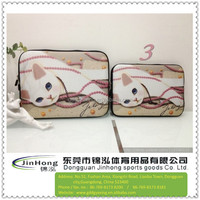 two-way zipper cloure cat neoprene laptop sleeve /laptop bags for ipad